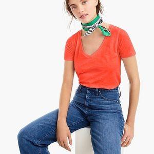 J.Crew Vintage Cotton V-Neck T-Shirt L2169 NWT